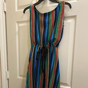 Anthropologie multi color woven dress
